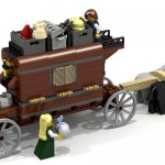 Lego horse and carriage