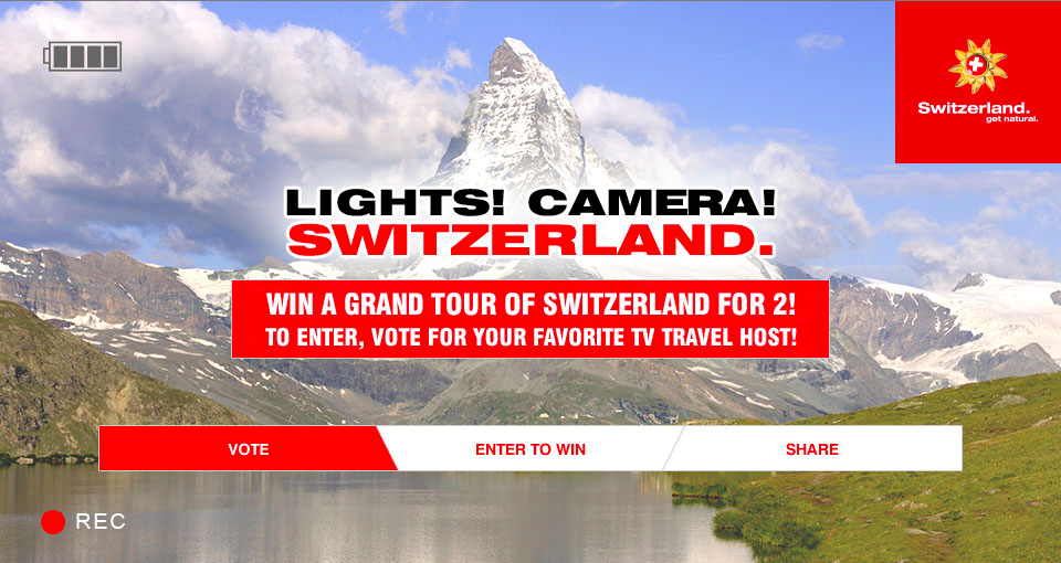 Win a Free Trip to Switzerland and Help Us Become TV Show Hosts