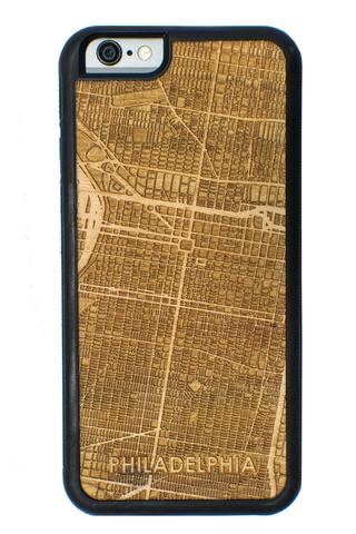 Cut Maps Wooden Cell Phone Case