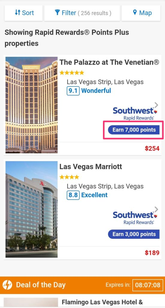Southwest Hotel Deals Vegas