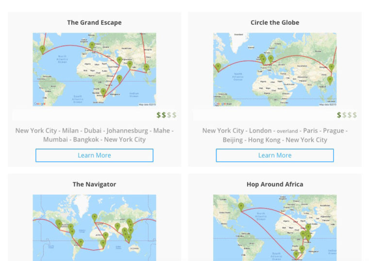 AirTreks itinerary examples
