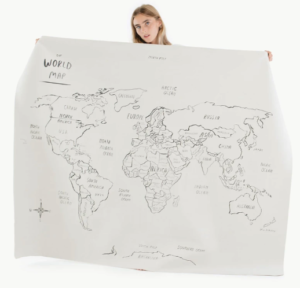 Gathre Midi+ World Map Reusable Mat