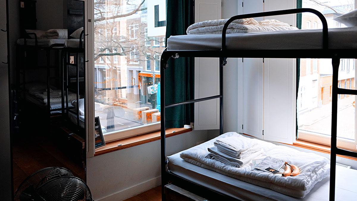 Bunk bed room in hostel