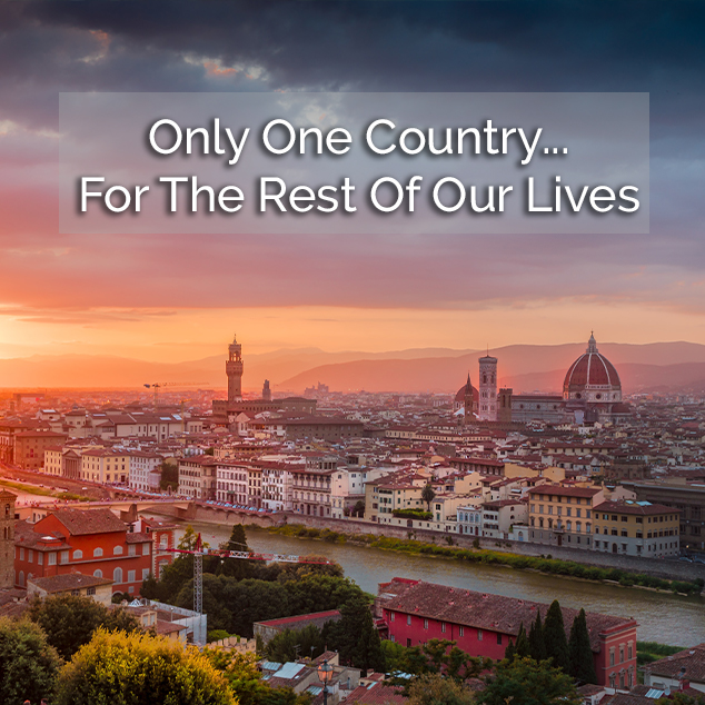 Only One Country…For The Rest Of Our Lives