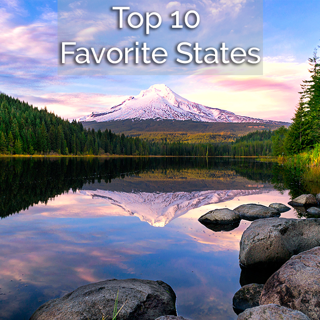 Extra Pack of Peanuts Podcast Top 10 Favorite States