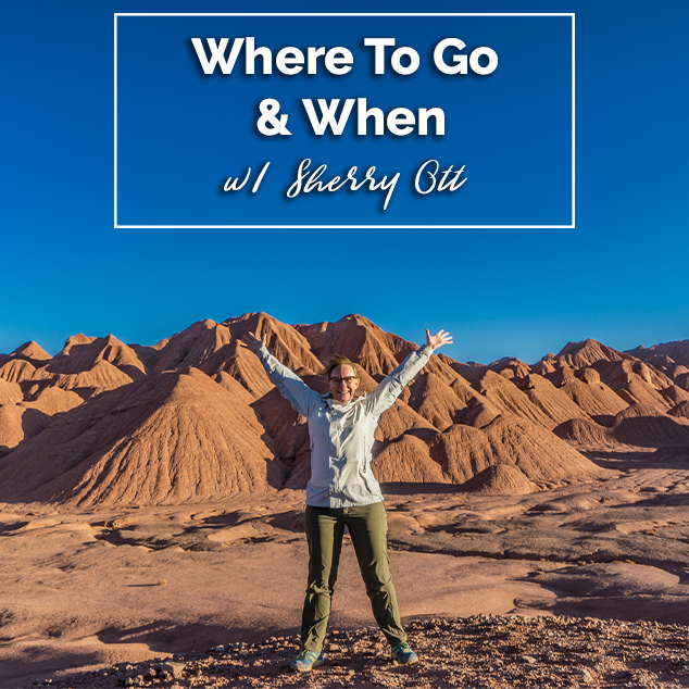 Extra Pack of Peanuts Podcast Where To Go & When w/ Sherry Ott